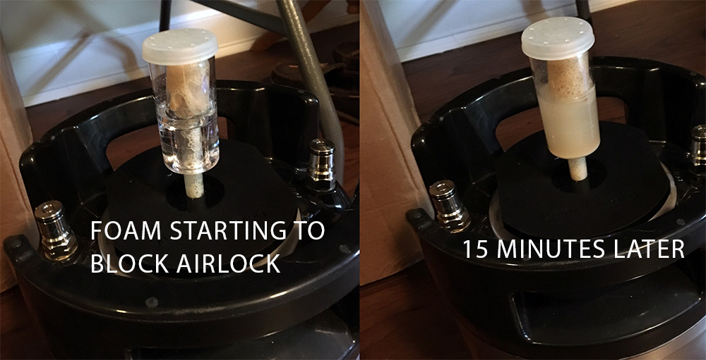 airlock filled with krausen
