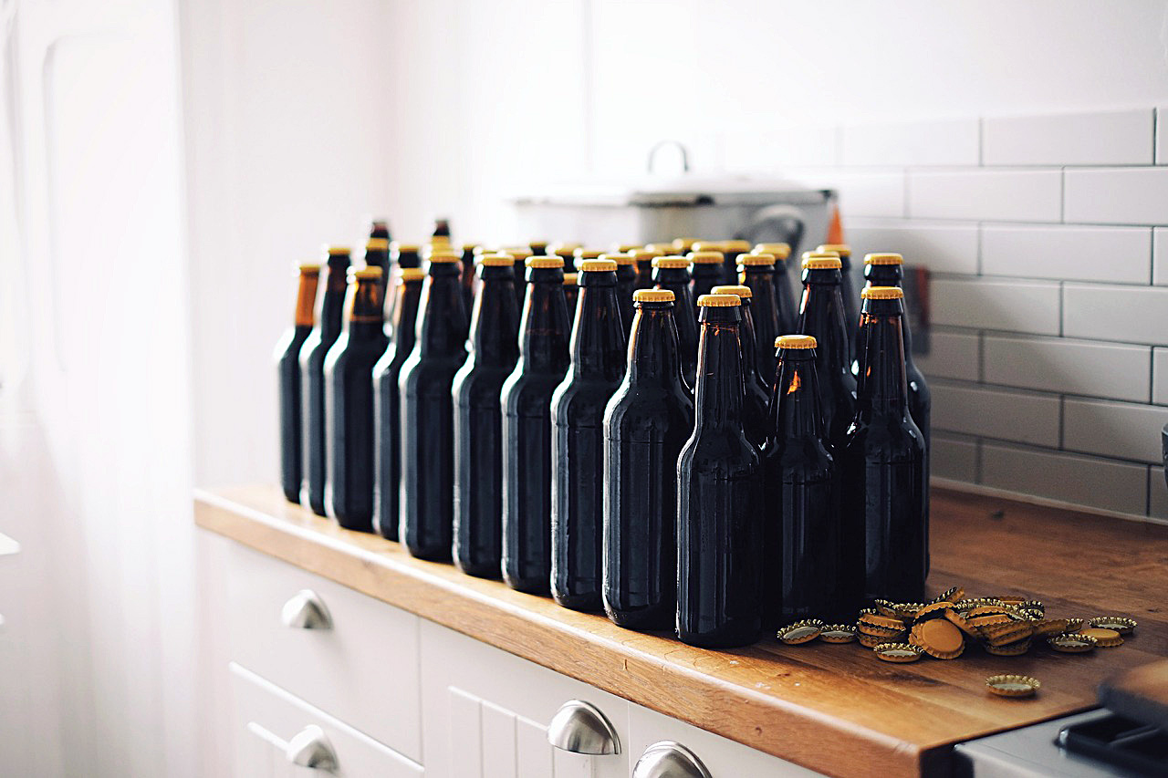 bottles for home brewed beer